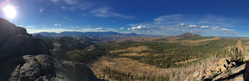 The view from the top of Turkey Rock.