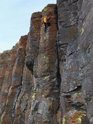 Rock Climbing Photo: Topo of Mr. Nice Guy. .10a