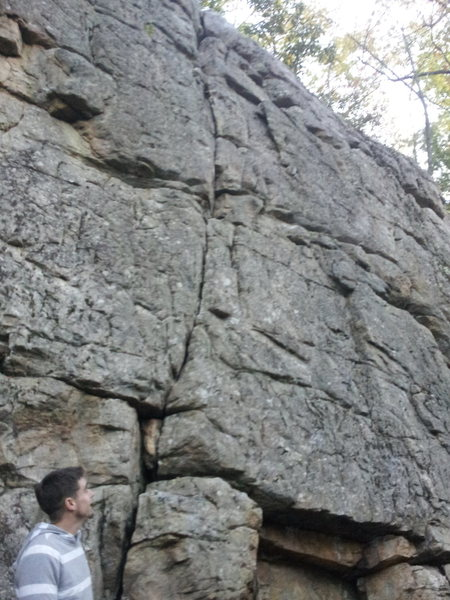 Rock Climbing Photo: Obvious crack. Van Gogh Did It With One Ear is wha...