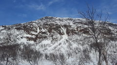 Rock Climbing Photo: This route is located on the left side of the phot...