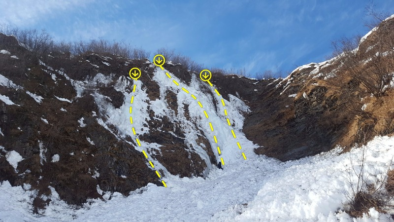 This enjoyable route is the first one you will encounter while hiking up the gully..