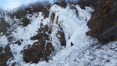 Rock Climbing Photo: This route is located to the left of the main flow...