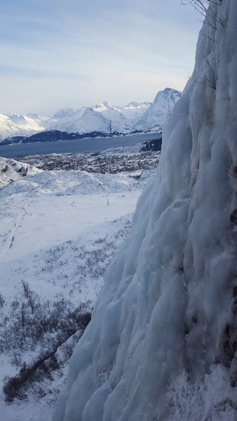 Another beautiful view of Valdez from the top of this climb.