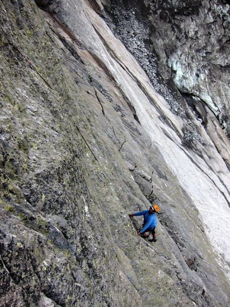 Rock Climbing Photo: First pitch of the Ferra da Strio aka Bügeleisen