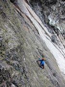 Rock Climbing Photo: First pitch of the Ferra da Strio aka Bügeleisen