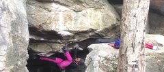 Rock Climbing Photo: cruxing?