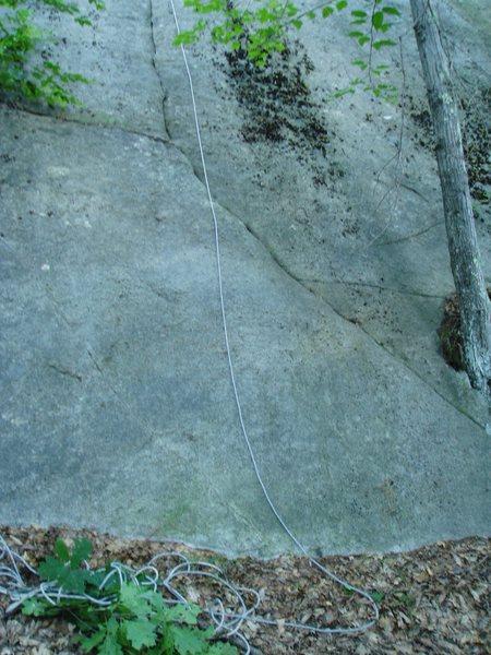 "Rock Climbing Photo: Bottom slab of ""First Crack"""