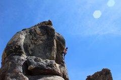 Rock Climbing Photo: Khelsie having fun on her first trip to AVC