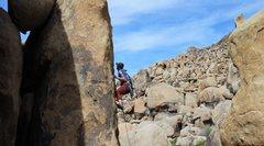 Rock Climbing Photo: Joe entering the curx
