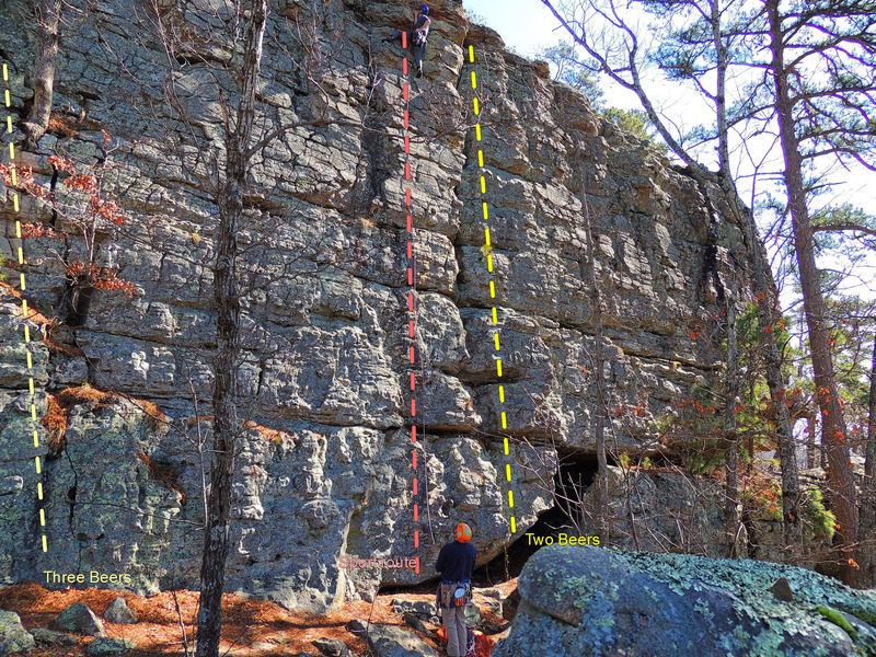 Rock Climbing Photo: First flared crack just left of the bivy cave.