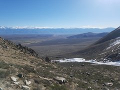 Rock Climbing Photo: Nice views over Bishop to the White Mountains