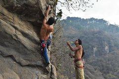 Rock Climbing Photo: Luis Giron on the Tricky start to Serpiente.