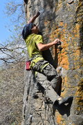 Rock Climbing Photo: Wilber Juarez holding the swing on the upper part ...