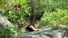 Rock Climbing Photo: Licel Cisneros cruzin to the top of Raton Vaquero....