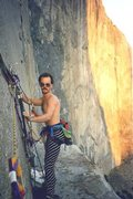 Rock Climbing Photo: Hauling on El Cap tower, November 1985