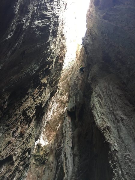 Cueva Larga. Enough routes to keep you busy for days. 20 minute walk from Vinales.