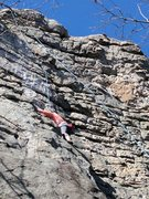 Rock Climbing Photo: considered Knob wall left , follow obvious ridge l...