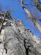 Rock Climbing Photo: Full view of route