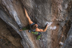 Rock Climbing Photo: Working the moves out. Photo: Ben Crawford