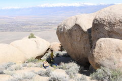 Rock Climbing Photo: View of the boulder from uphill.