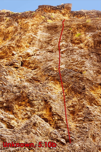Rock Climbing Photo: Unknown, 5.10b