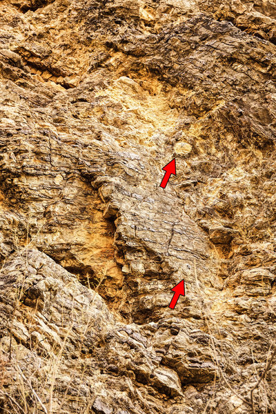 Unknown, 5.10b. First two bolts marked.