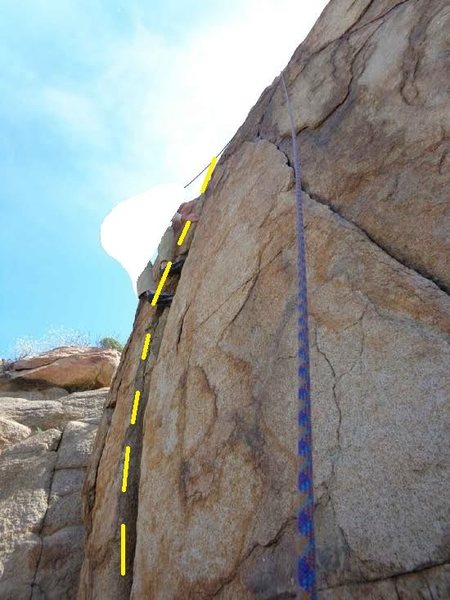 Rock Climbing Photo: direct NW face (aka left half half dome crack) gho...