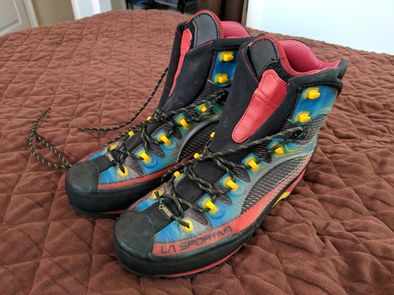 Rock Climbing Photo: Trango Cube boots, size 45.5