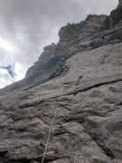 Rock Climbing Photo: Kevin is on the 1st pitch of the route that leads ...
