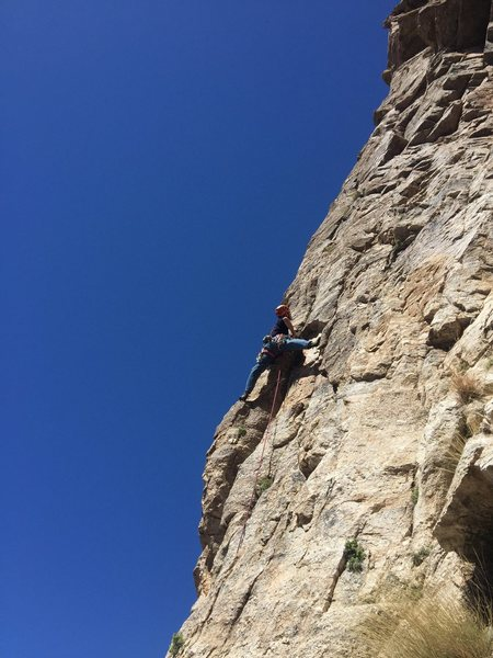 Rock Climbing Photo: Greg leading like a boss. I would have crapped my ...