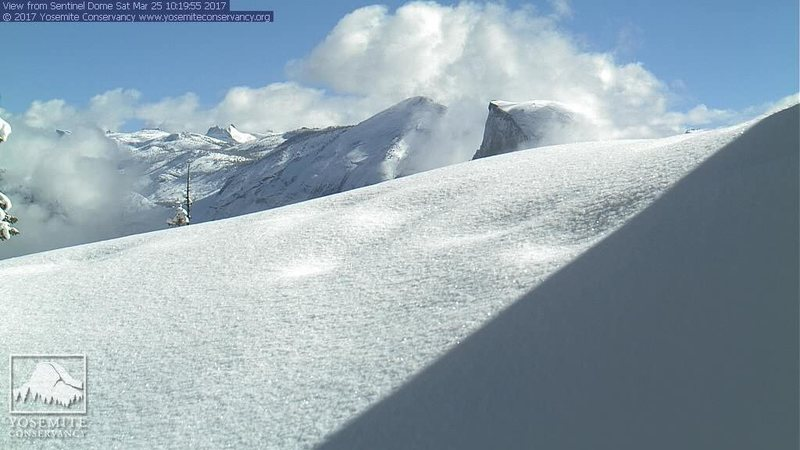 Rock Climbing Photo: HD web cam 3/25/17. Looking a little frosty.
