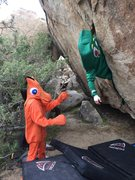 Rock Climbing Photo: Gumby sending Inquisition V6