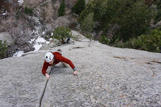 Rock Climbing Photo: Casey passed the thin