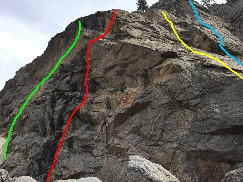 Rock Climbing Photo: Big Tuna - green, Axed - red, Wyoming Prairie Dogs...