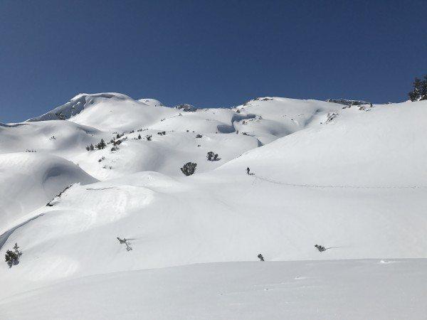 around 9000+ elevation Mule Pass 3/17. Credit Ryan Kelley.