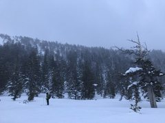 Rock Climbing Photo: Snow Survey Tower 3/17 (20'tall) barely visibl...
