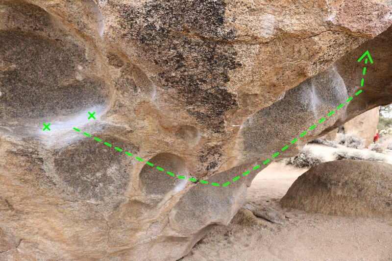 Close up of the holds.