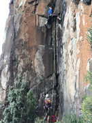 Rock Climbing Photo: Australian climbing legends Bob Bull (belaying) an...