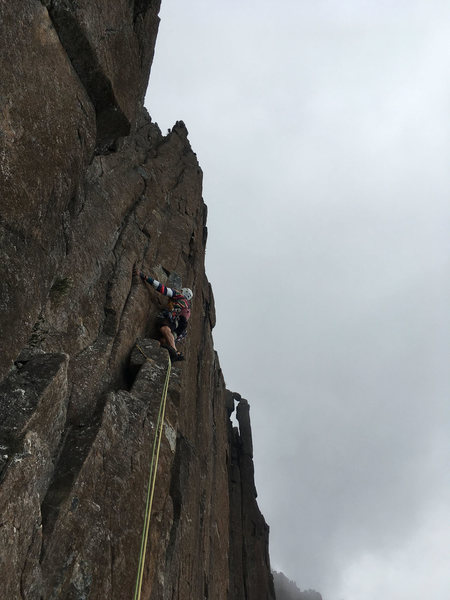 Rock Climbing Photo: Bob Bull on Fiddlesticks P2