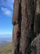 Rock Climbing Photo: Stu Scott leading Chancellor Direct P1