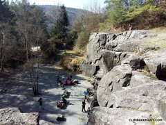 Rock Climbing Photo: view from the top of the crag