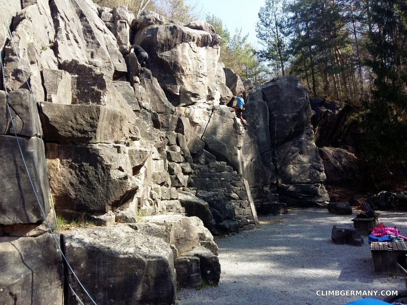 Another view of the crag