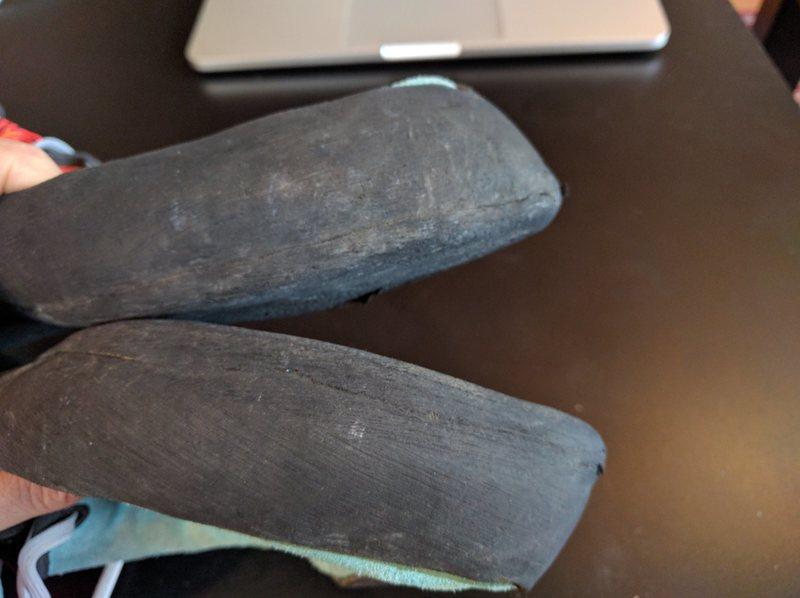 Inside edge actually has a ton of rubber