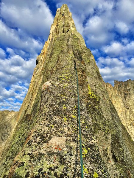 """Looking up the magnificent East Ridge from """"The Sidewalk"""""""