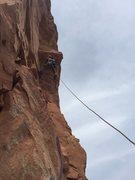 Rock Climbing Photo: Neil Kauffman at the roof, p2