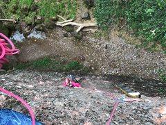 Rock Climbing Photo: Follower re-aiding P1