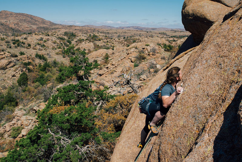 Rock Climbing Photo: Dan on L&G
