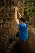 Rock Climbing Photo: Tyler Hunt on the Gill Problem