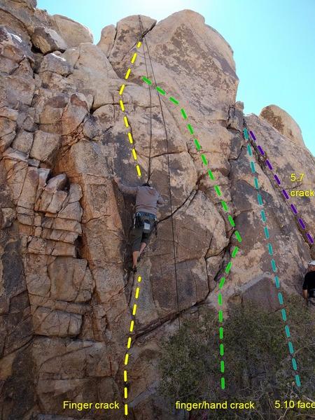 Rock Climbing Photo: Finger crack in Dissolution Corridor