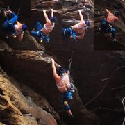 Rock Climbing Photo: This route starts with a 5.7, which ends right bel...